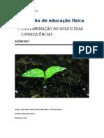 Consequências da contaminação do solo