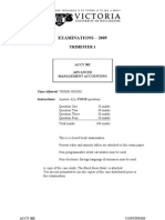 ACCY302 2009 Tri 1  EXAM Paper