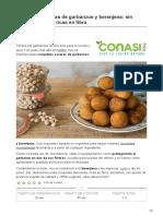 conasi.eu-Croquetas caseras de garbanzos y berenjena sin huevo lácteos y ricas en fibra