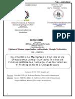 Co-infection de Mycoplasma hominis et de