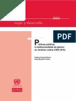 Políticas Públicas e Institucionalidad de Género en América Latina