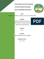 INCETIVOS Y BALANZA COMERCIAL DEL SECTOR AGROPECUARIO
