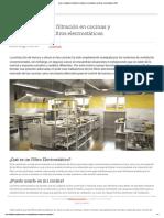 Usos y ventajas de filtración en cocinas y restaurantes con filtros electrostáticos _ S&P