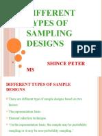 Different Types of Sampling Designs