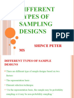 Different Types of Sampling Designs