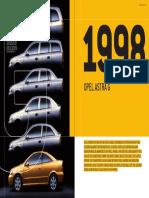 Opel Astra G 1998 Technical Data