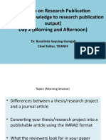 From Research to Publication