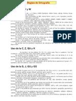 teoria de reglas de ortografía