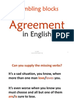 agreement in english