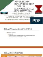 CLASE 1 DISEÑO ARQUITECTONICO