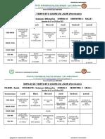 EMPLOI DE TEMPS provisoire SANTE SIN1, sin2 et Sin3 du15 au 19 mars 2021
