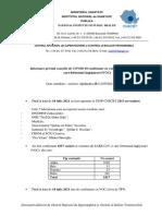 Informare cazuri cu variante care determină îngrijorare (VOC)