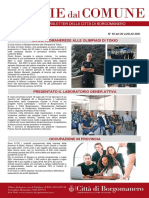 Notizie Dal Comune di Borgomanero del 20-07-2021