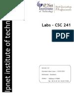 IPNET - CSC 241 - DESCRIPTION DES TRAVAUX PRATIQUES - SEMAINE 6 - TABLEAUX A UNE DIMENSION (SUITE) (1)
