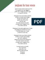 testo italiano di Aranjuez