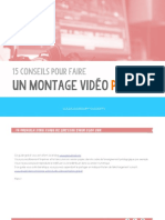 15 Conseils Montage Video Pro 1