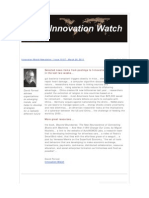 Innovation Watch Newsletter 10.07 - March 26, 2011