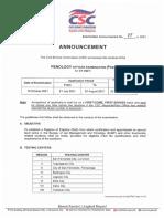 Exam Announcement No05s2021 POE