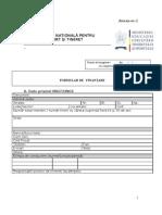 Formularul de finantare