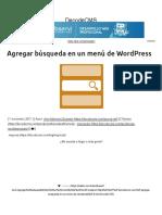 Agregar búsqueda en un menú de WordPress - DecodeCMS