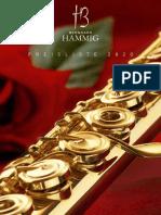 Flutes Berhard Hammig Preisliste 2020