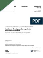 BMW GS 90010-1 2021-03 Oberflächenschutzarten Für Metallische Werkstoffe