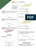 Regras importantes no estudo da geometria de posição