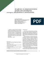Diferenças de gênero no desenvolvimento - Integração dos paradigmas biológico, psicanalítico e evolucionista
