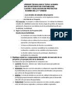 Examen de Formulacion de Proyectos de Inversion - Josue Daniel Huillca Mamani