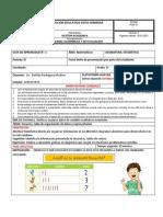 Guía de Estadística - Tercer Período - Grado 1°