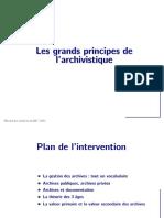 Les grands principes de l'archivistique