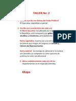 TALLER No 2 DIVISIÒN POLITICA Y ADMINISTRATIVA DE COLOMBIA