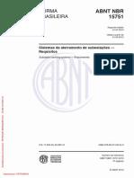 NBR 15751 - Sistemas de Aterramento Em Subestações