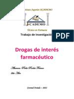 Drogas de interes farmaceutica