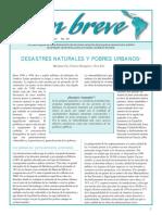 Desastres Naturales y Pobres Urbanos