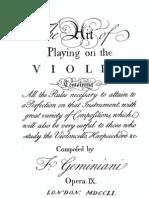 Geminiani - The Art of Playing Violin