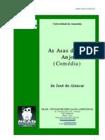 As asas de um anjo - José de Alencar - teatro