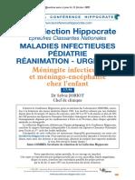 Méningite Infectieuse Et Méningo-Encéphalite Chez l'Enfant - Hippocrate 05