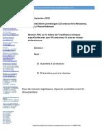 Bulletin d'Inscription 30 Septembre 2021