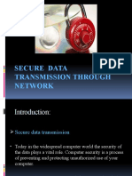 SECURE  DATA  TRANSMISSION THROUGH   NETWORK...newwwww