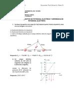 Ejercicios propuestos Potencial eléctrico - Diferencia de potencial eléctrico.