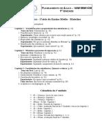 Planejamento de Aulas - 1a Série Do Matutino - 1a Unidade