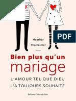 Bien Plus Quun Mariage