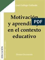 Libro - Motivacion y aprendizaje en el contexto educativo