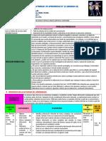 Planificación de La Actividad de Aprendizaje n