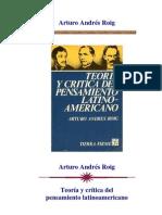 Roig Andres - Teoria y crítica del Pensamiento Latinoamericano