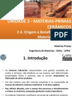 Aula 5 - Origem e Beneficiamento de Materiais Cerâmicos