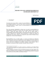 A Responsabilidade Civil dos Administradores das Sociedades Desportivas – Rui Pinto Duarte