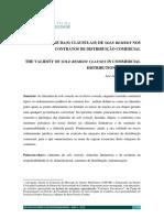 A validade da(s) cláusula(s) de sole remedy nos contratos de distribuição comercial – José Luís Dias Gonçalves