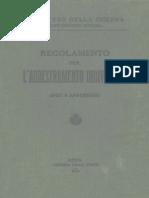 Regolamento Per l'Addestramento Individuale (1490) 1925